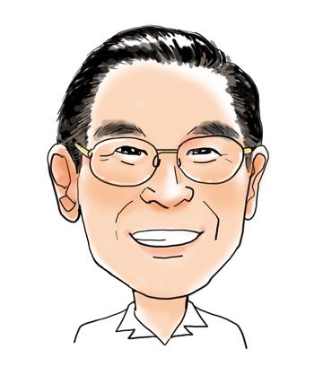 小野先生似顔絵