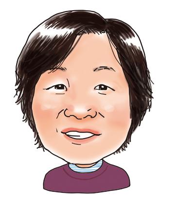 安藤良子さん似顔絵